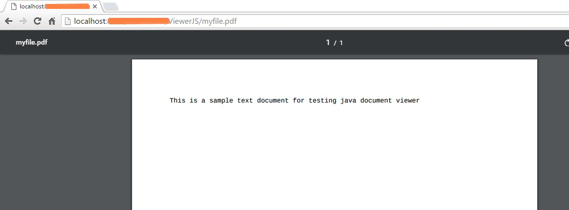 Document Viewer for pdf and txt files - Java Infinite