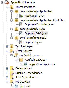 Spring Boot + Hibernate CRUD Example - Java Infinite